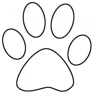 Drawn puppy paw print Outline Print Download Free Cliparts