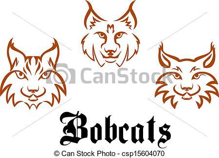 Bobcat clipart logo Lynxs and mascot or Vectors