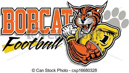 Bobcat clipart logo Football bobcat Search  Vector