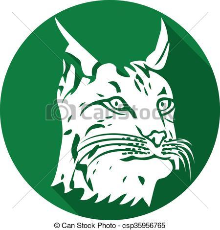 Bobcat clipart lynx Clip head icon of of