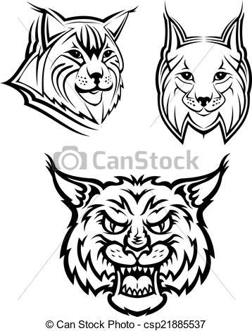 Bobcat clipart lynx Wild of mascots Head bobcat