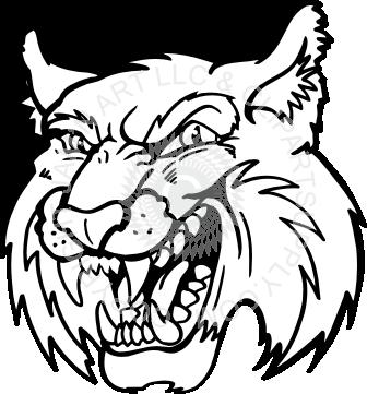 Bobcat clipart mascot Bobcat Free Clipart Mascot Clipart