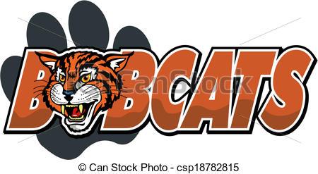 Bobcat clipart mascot Vector paw bobcat mascot design