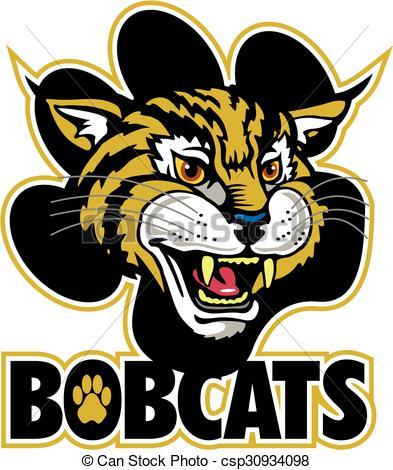 Bobcat clipart mascot Vector clipart image of Bobcats