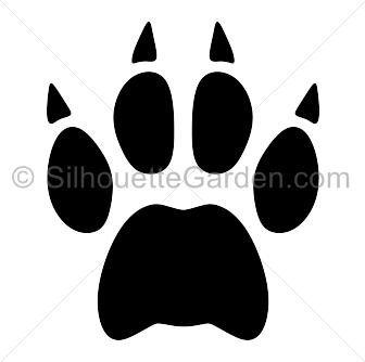 Paw clipart silhouette Print Paw Print Silhouette Bobcat