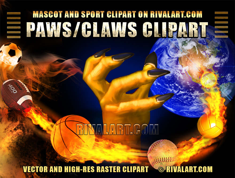 Bobcat clipart tiger claw T and com clipart paws
