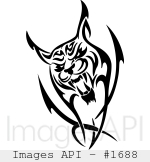 Bobcat clipart tribal Images bobcat Images tribal 012