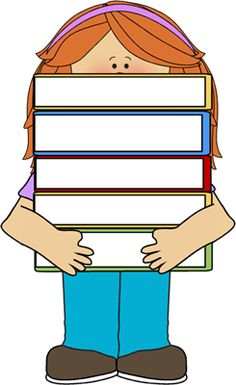 Bobook clipart many book And Girl Pinterest Printables White