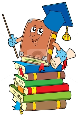 Bobook clipart piled Book of vector pile books