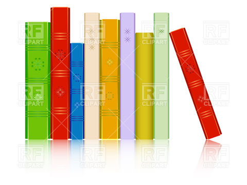 Bobook clipart row Books books orange yellow Row