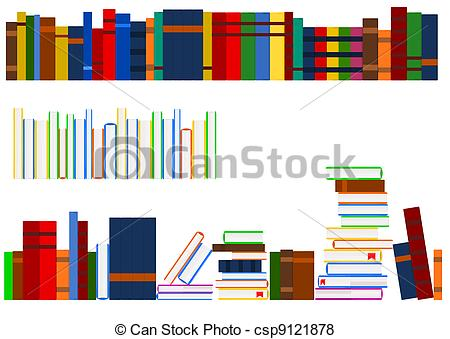 Bobook clipart row 042 books collections books Illustrations