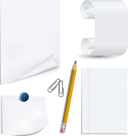 Bobook clipart stationery Clip clip vector) book pencil
