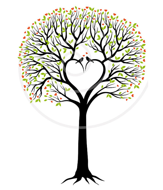 Bobook clipart stationery Wedding guest tree download book
