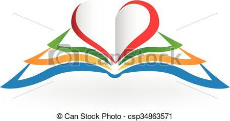 Bobook clipart symbol Csp34863571 Book Book  love
