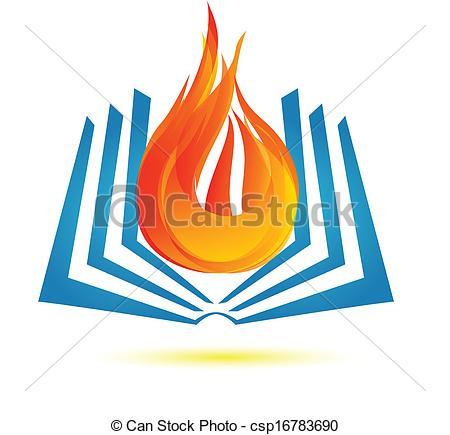 Bobook clipart symbol EPS fire Book logo logo