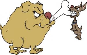 Bones clipart big dog Clip Bigger Clipart Dog Gets