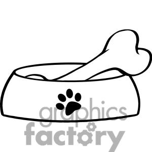 Bones clipart dog dish Christmas Images Clipart Clipart Clipart