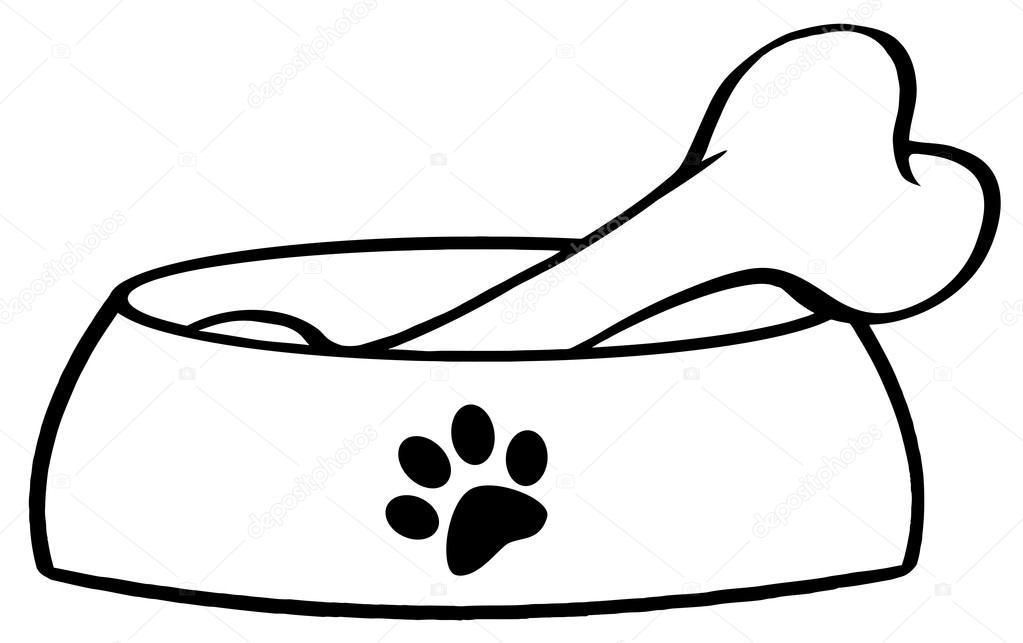 Bones clipart dog dish Stock #9793832 Photo In Dish