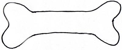 Drawn bones Bone bone clipart clip Dog