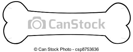 Bones clipart hueso Outlined Vector csp8753636 of csp8753636