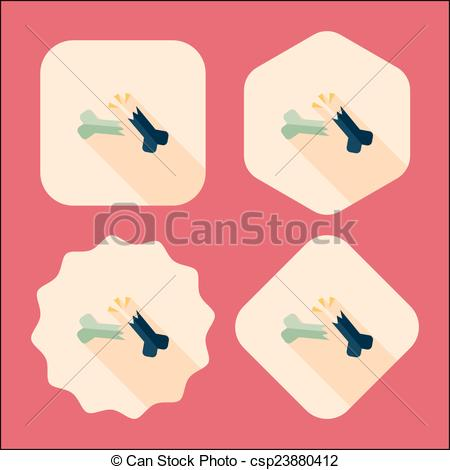Bones clipart long Bone with Clip flat