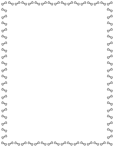 Bones clipart simple dog  border simple page A