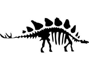 Bones clipart stegosaurus Fossil Vinyl Decal Decal Vinyl
