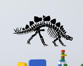 Bones clipart stegosaurus Stegosaurus Etsy Art Vinyl skeleton
