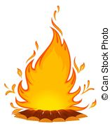 Bonfire clipart And fire a white Illustrations