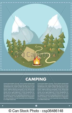Bonfire clipart fir With the of Vector of