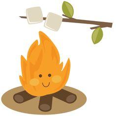 Camper clipart smore Clipart Smores Campfire Clipart Campfire