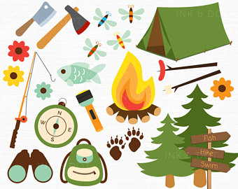 Hiking clipart forgot Campfire Bonfire Bugs Camping Hike