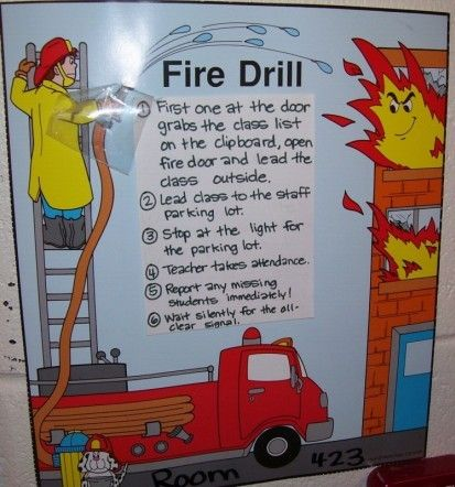 Fire Truck clipart fire drill On for during drill a
