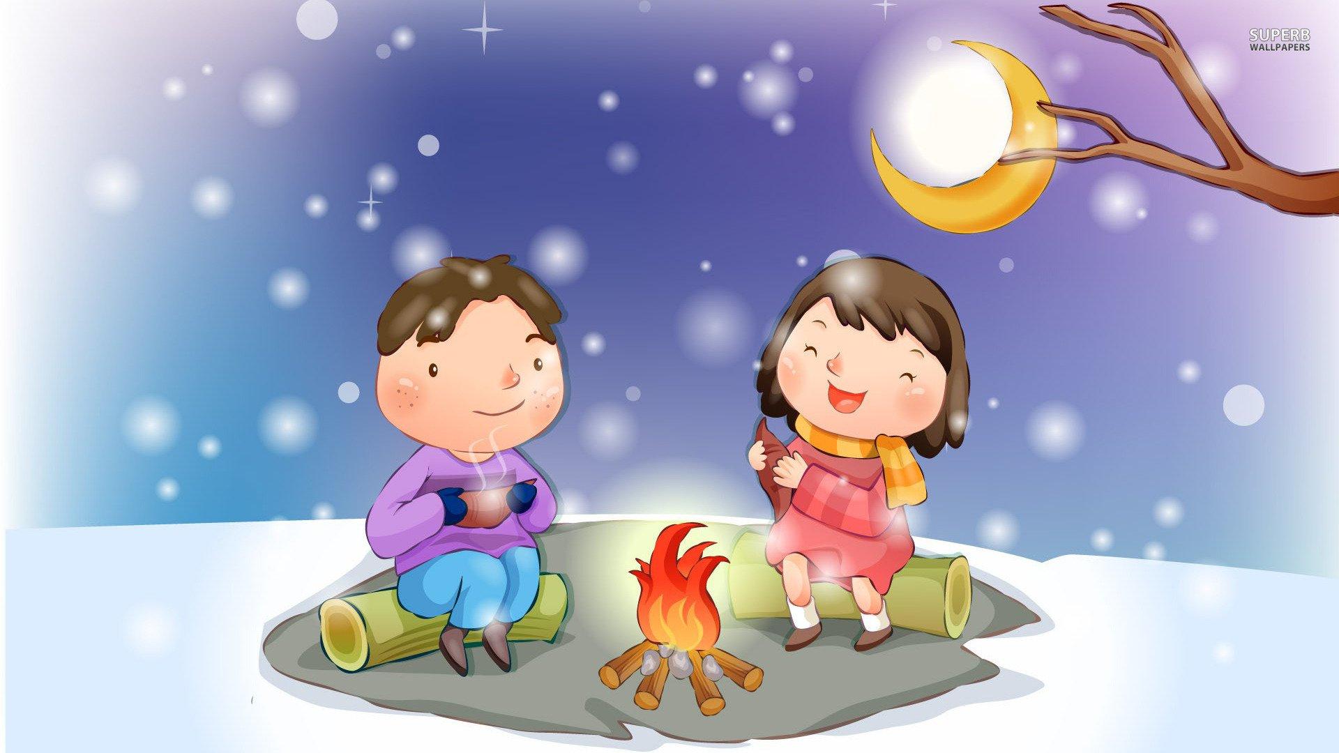 Bonfire clipart winter In Bonfire Bonfire Snow 495254