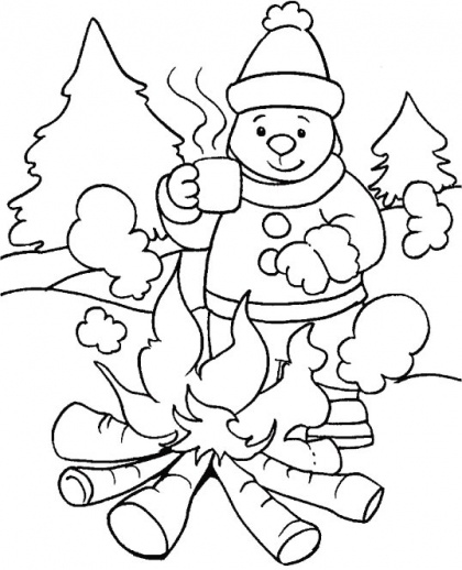Bonfire clipart winter Download winter Pages in Winter