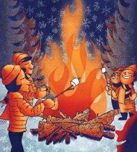 Bonfire clipart winter ABC — the Ideas Remember