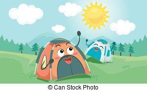 Bonfire clipart winter camping Tents Vectors of Mascot