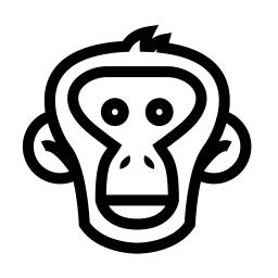 Bonobo clipart Modern Bonobo for processing simple