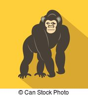 Bonobo clipart Icon  and Illustrations monkey