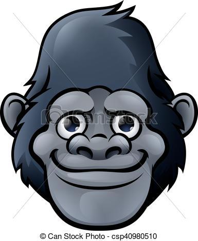 Bonobo clipart cute Cute Cute csp40980510 Cartoon Gorilla