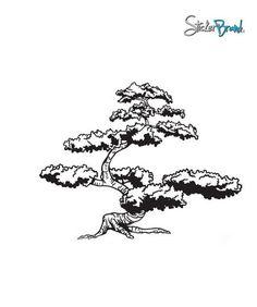 Bonsai clipart cypress tree Clip tree art Soap Silhouette