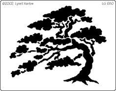 Bonsai clipart cypress tree Stencils tree bonsai stencil Google