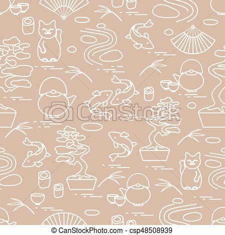 Bonsai clipart japanese koi Pattern carp  of with