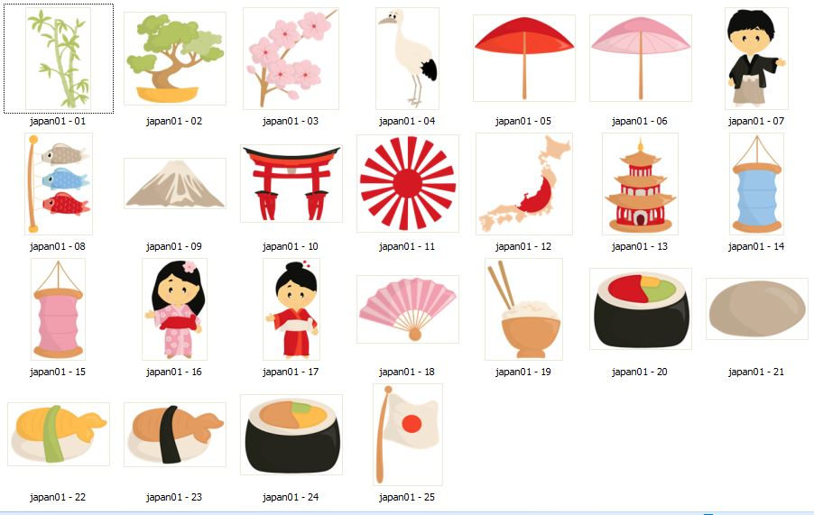 Bonsai clipart japanese sushi Travel clipart art clipart Tradition