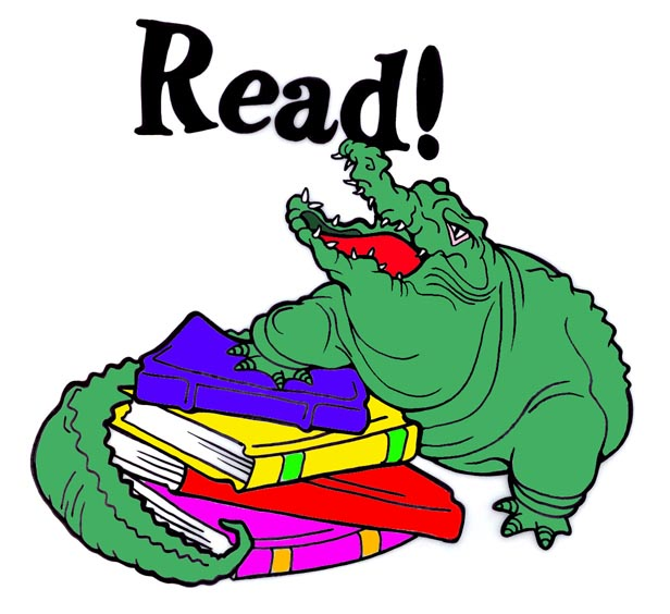 Bobook clipart alligator Books Texas color read ·