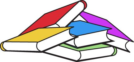 Book clipart bunch Colorful  Of Books Art