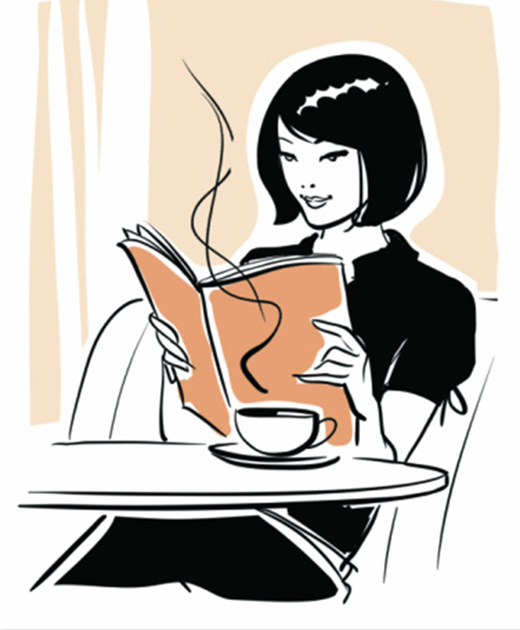 Bobook clipart coffee and Lady Reading McMillan café