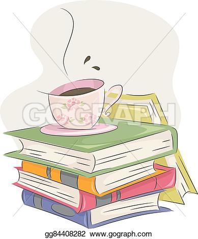 Bobook clipart coffee and A club books of a