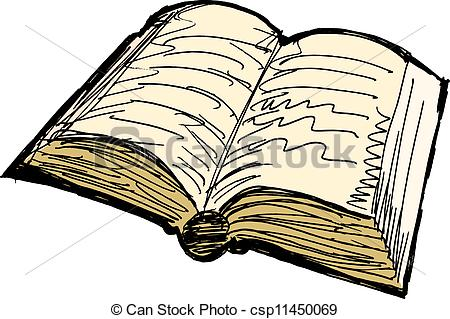Drawn book Of Old Clip book csp11450069