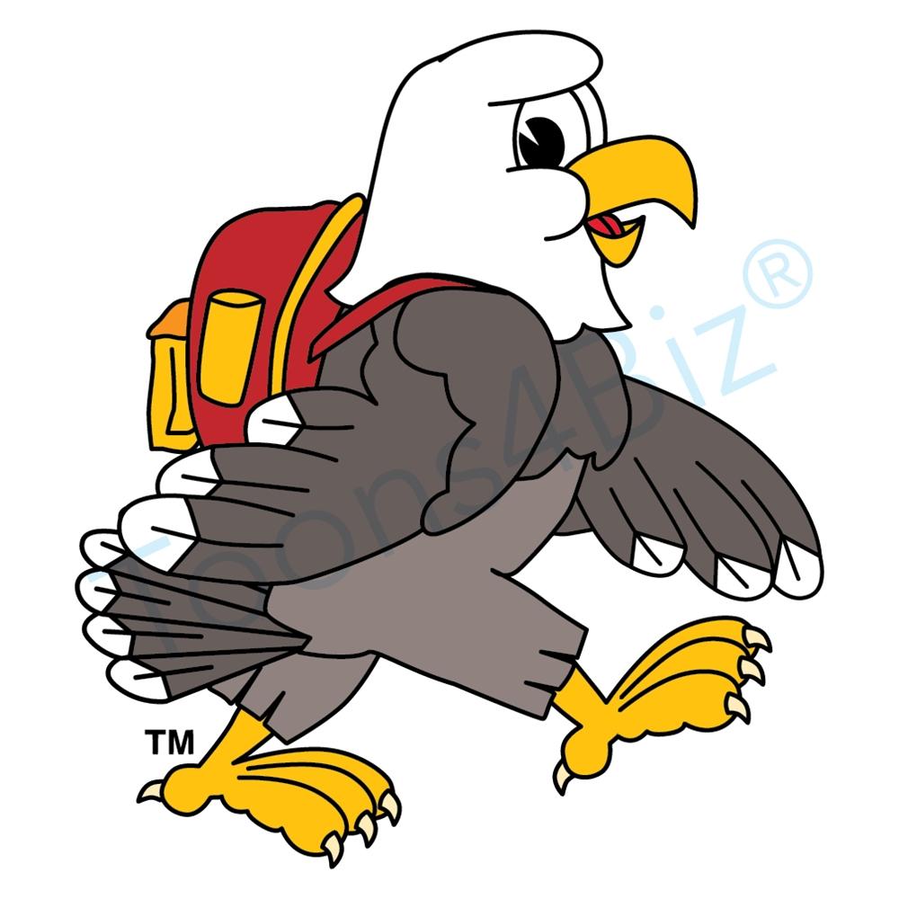 Bald Eagle clipart cartoon Art clip Bald mascot clip